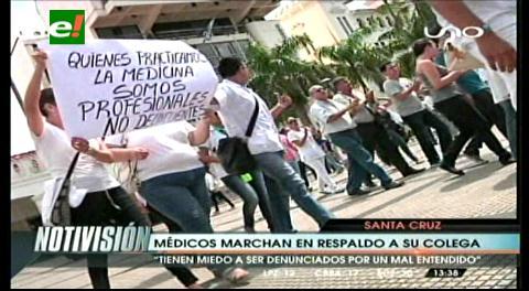 Marchan por la liberación de médico acusado de violación
