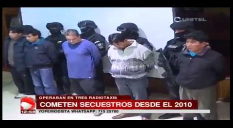 Policía desbarata organización criminal que realizaba secuestros exprés en radiotaxi