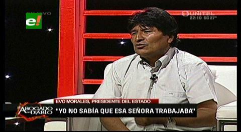A Evo: ¿No le llama la atención que Gabriela Zapata se haya enriquecido o ya era adinerada cuando usted la conoció? (video)