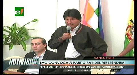 Evo convoca a Bolivia a concurrir masivamente a las urnas el domingo