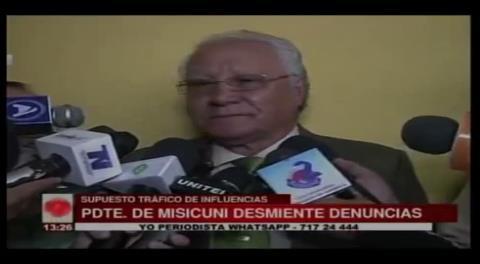 Empresa Misicuni desmiente tráfico de influencias con CAMC