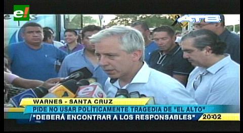García Linera: Daremos con culpables de incendio en El Alto