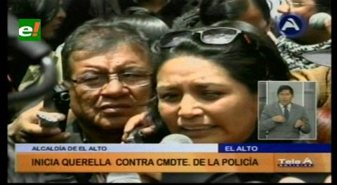 Alcaldía de El Alto: Presentan querella contra la Policía