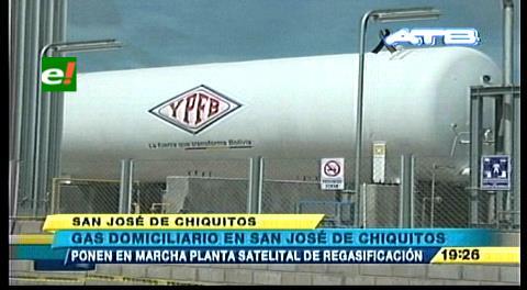San José de Chiquitos: YPFB lanza estación de gas domiciliario y regasificación