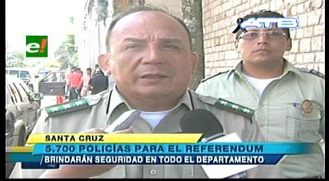 Con 5760 efectivos para controlar el referéndum en Santa Cruz