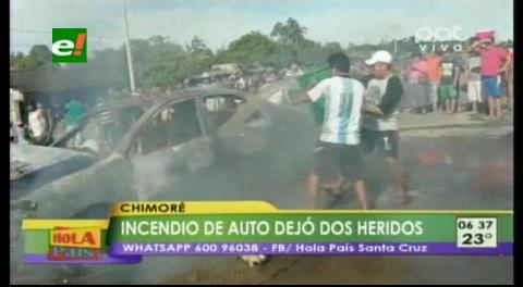 Accidente en Chimoré deja dos heridos