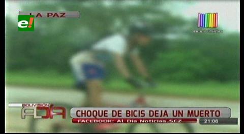 La Paz: Choque de bicicletas deja una persona muerta