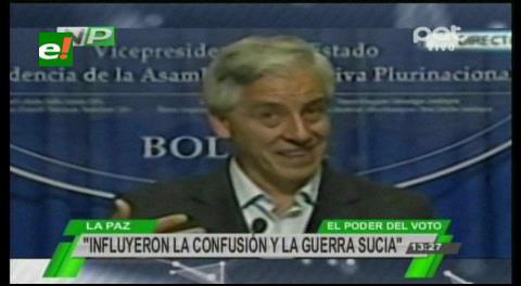 Referéndum: García Linera ve 4 factores en el resultado ajustado