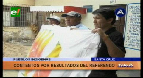 Indígenas de tierras bajas celebran la victoria del NO