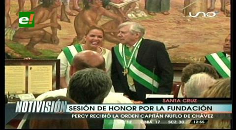 En sesión de honor Concejo distinguió al alcalde Percy Fernández