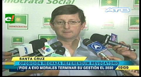 Ortiz: El presidente debe trabajar por los bolivianos en vez de pensar en un revocatorio