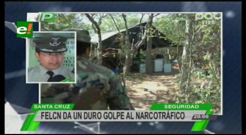 Operativos: Felcn capturó a narcos y destruyó laboratorios