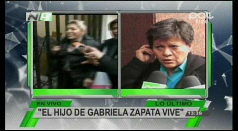 Tía de Zapata revela que el hijo de Evo está vivo
