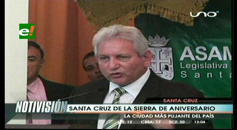 Asamblea Departamental y Comité Cívico festejaron los 455 años de Santa Cruz