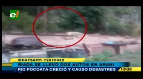 Riada se lleva dos autos y afecta cultivos en Pocoata
