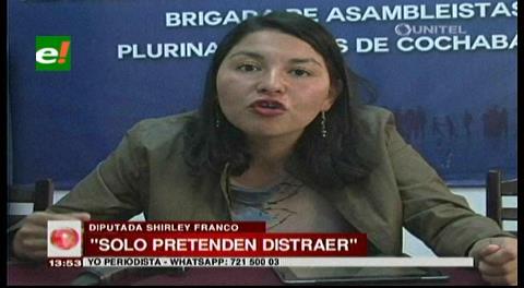 "Diputada Shirley Franco Rodríguez llama ""poco hombre"" a Evo Morales"