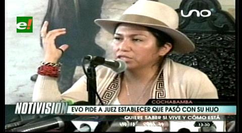 Ministra Paco: Presidente pide a juez que determine si el hijo que tuvo con Zapata está con vida: