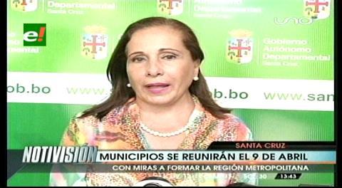 Gobernación cruceña anuncia conversatorio para conformación de Región Metropolitana