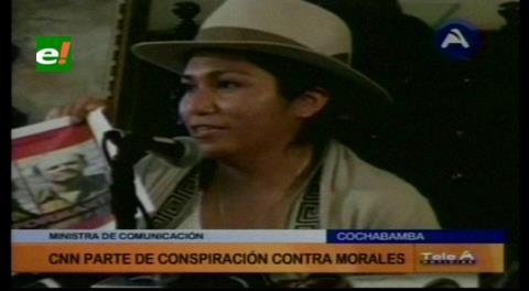 Ministra Paco dice que CNN es parte de la conspiración contra Evo Morales