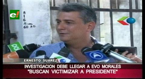 """Ernesto Suárez y el caso Zapata: """"El MAS busca victimizar a Evo Morales"""""""