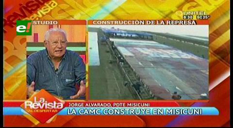 """Presidente de Misicuni: """"Se mantendrá el contrato con CAMC"""""""