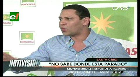 """Diputado Monasterio le responde a Romero y le dice que """"el ministro no sabe dónde está parado"""""""
