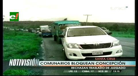 Bloqueo de carreteras y paro cívico en Concepción