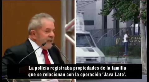 Policía brasileña allana casa de Lula y lo lleva a declarar por el caso fraude en Petrobras