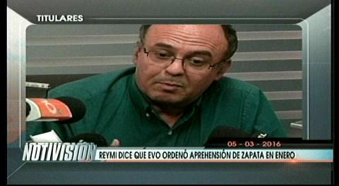 Titulares de TV: Ministro Ferreira dice que Evo ordenó la detención de Zapata en enero