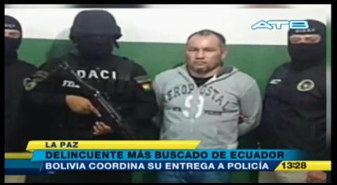 Gobierno extraditará a delincuente ecuatoriano capturado por Policía
