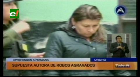 Policía aprehende a mujer peruana acusada de robar en Oruro