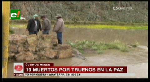 19 muertos por tormentas eléctricas en el país