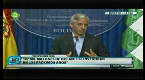 Vice no alude a corrupción de CAMC y culpa a EEUU de querer frenar inversiones de China y Rusia en Bolivia