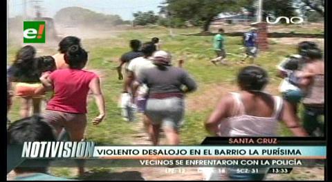 Violento desalojo en el barrio La Purísima