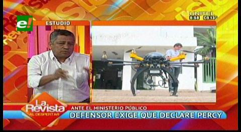 Defensor del Pueblo exige que Percy declare en el caso del dron