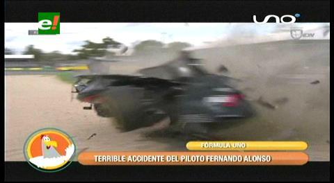 El aparatoso accidente de Fernando Alonso en Australia