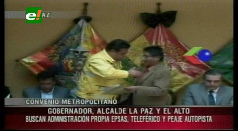Gobernador y cinco alcaldes acuerdan creación de región metropolitana en La Paz