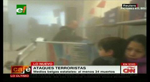 Video: Así se ve el interior del aeropuerto de Bruselas tras los atentados