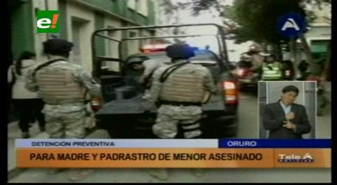 Oruro: Envían a la cárcel a madre y padrastro de menor estrangulado