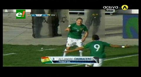 Bolivia le empata 2-2 a Colombia con golazo de Chumacero