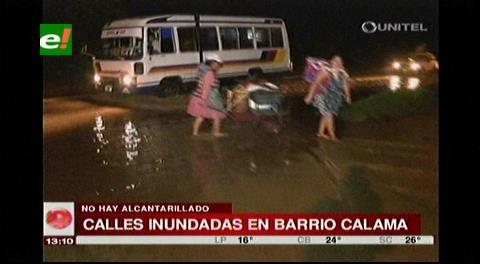 Sin alcantarillado ni drenaje: Barrio Calama se inunda