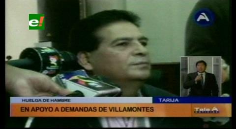 Asambleísta se declara en huelga de hambre en apoyo a las demandas de Villamontes