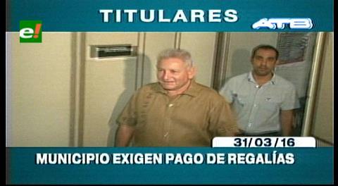 Titulares de TV: Ultimátum a Rubén Costas, municipios cruceños exigen el pago de regalías