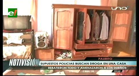 Supuestos policías de Felcn allanaron un domicilio