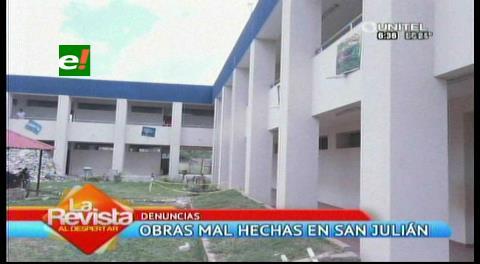 Santa Cruz. Obras del 'Evo cumple' se deterioran en San Julián