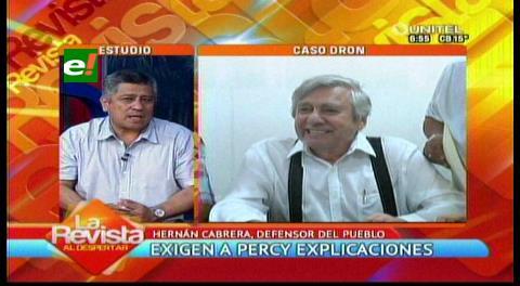 Cabrera pide a Percy respeto a la prensa y que explique sobre la compra irregular del dron