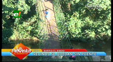 Santa Cruz: Así quedó el puente que se cayó en la Luján