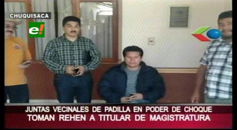 Chuquisaca: Toman rehén al presidente del Consejo de la Magistratura