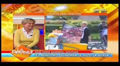 """Sandóval y la iliquidez de Quintana: """"Es hacerse la burla de los bolivianos"""""""
