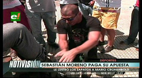 Blooming 2-0 Oriente: Moreno pagó su apuesta, lustró los zapatos a Cronenbold
